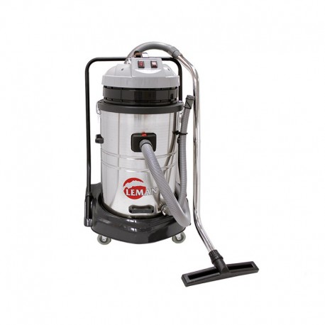 Aspirateur eau et poussière bi-moteur en inox 70L