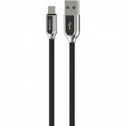 Cable USB Cotton type Lightning Iphone 1,2m Noir