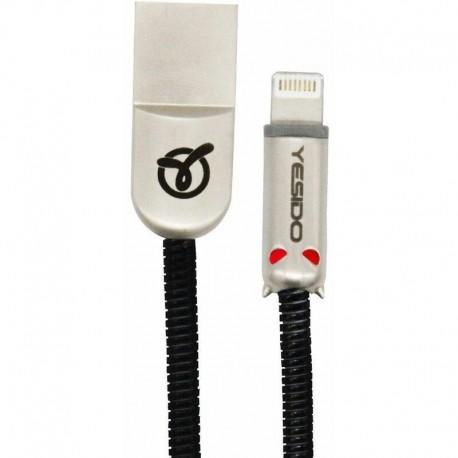 Cable USB Little Devil type Lightning Iphone 1,2m Noir