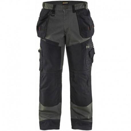Pantalon X1500 CANVAS vert armee noir Blaklader