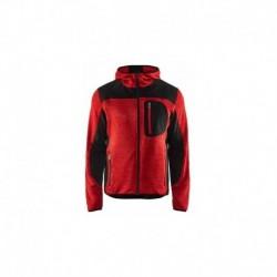 Veste tricotée à capuche rouge / noir Blaklader 493021175699
