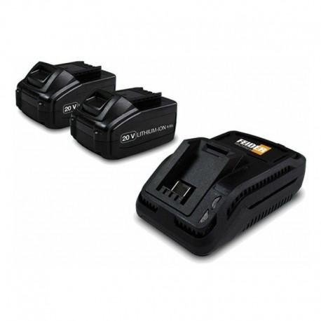 Pack de 2 batteries lithium 20 V FB202B FEIDER