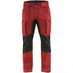 Pantalon services +stretch Blåkläder rouge / noir