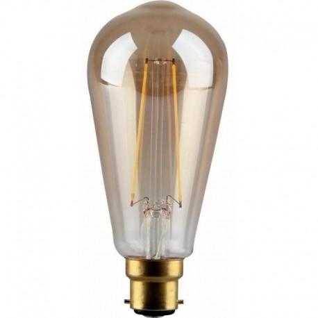 Filament poire ST64 vintage 4W B22 Kosnic