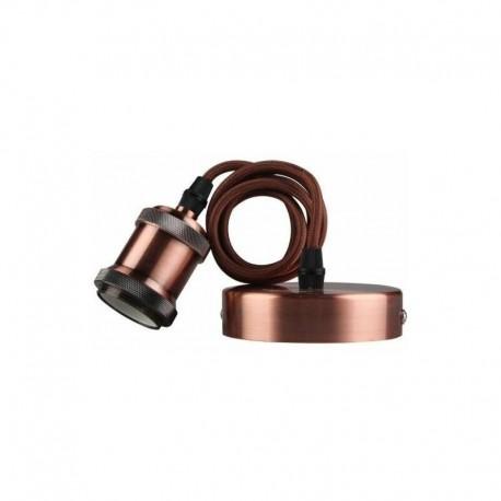 Suspension décorative CALLA 60W E27 Rouge / Bronze