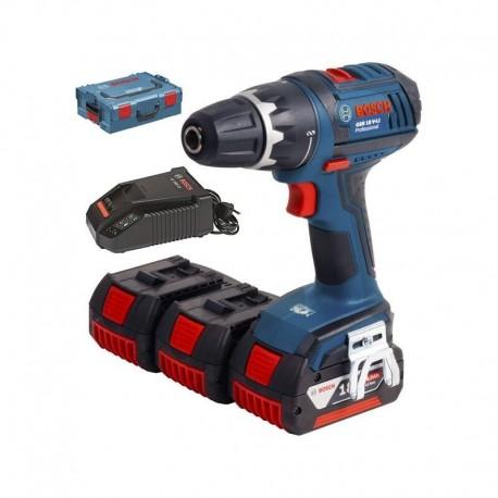 Perceuse visseuse sans fil Bosch GSR 18 V-LI avec 3 batteries de 4.0 Ah - 0615990FR4