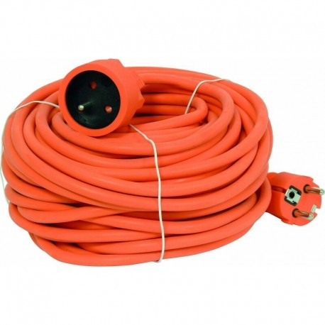 Prolongateur souple PVC 25m 2x1.5 NF Sodelec