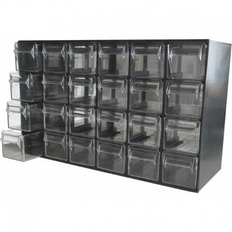 Casier de rangement 24 tiroirs 377x142x228mm Drakkar
