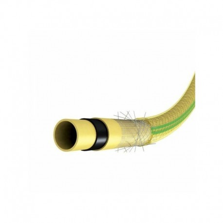 PRTA25J25 Tuyau TubiRoll tricoté antivrille jaune trans, 25m diam Ø25mm - Ribimex