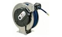 """Enrouleur acier inox eau HP 25 m - 200 bar - 3/8"""" - 1,20 m liaison - flex blue hose Luro"""