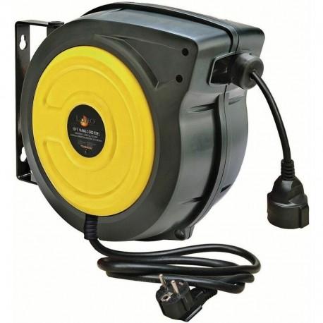 Enrouleur électrique carrossé 20 mètres - 3 x 2,5 mm - 230 v - Luro