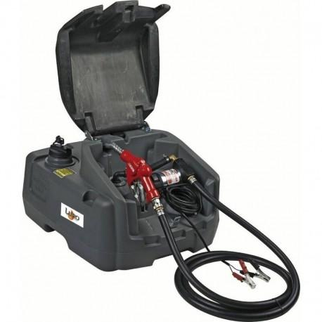 Cuve GRV PEHD 100 litres distribution gasoil avec pompe 12 v - pistolet à arrêt auto - Luro