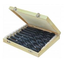 Coffret bois 8 forets CM3 de 24 a 31 mm - Acier 4341 HSS