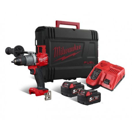 Perceuse Percussion FUEL 3GEN, 18V, 135 Nm + 2 batteries, chargeur et HD Box - Milwaukee - M18 FPD2-502X