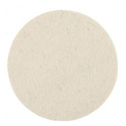 Tampon feutre de polissage Mirka 125x6mm blanc, 2/unité