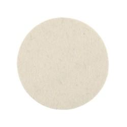 Tampon feutre de polissage Mirka 77x6mm blanc, 2/unité