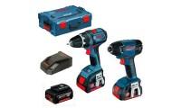 Pack 2 outils BOSCH Perceuse visseuse GSR 18 V-LI + Visseuse à chocs GDR 18-LI