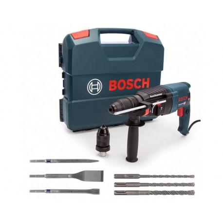 Coffret Perforateur SDS-Plus GBH 2-26 F Bosch + mandrin auto + accessoires