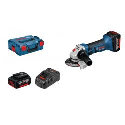 Meuleuse angulaire sans fil GWS 18-125 V-LI Bosch Professional + 2 Batteries 4.0Ah + 1 L-Boxx