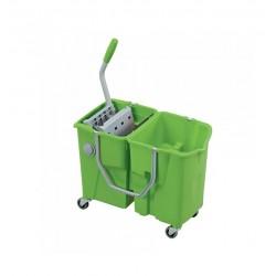 Chariot de lavage Clevy ICA 2 X 15L, presse à plat intégrée