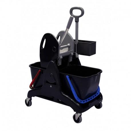 Chariot de lavage ICA Tristar 30 - 2X15L avec bac produit + presse ST