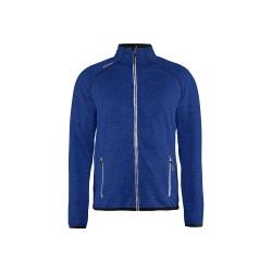 Veste tricotée Blåkläder Bleu roi/blanc