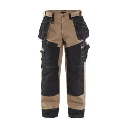 Pantalon Blåkläder X1500 CANVAS beige/noir
