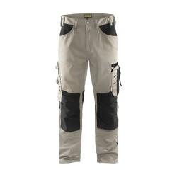 Pantalon artisan sans poches flottantes beige/noir