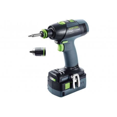 Perceuse-visseuse FESTOOL sans fil T 18+3 Li 5,2-Plus