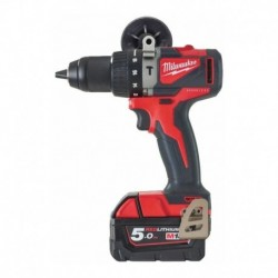 Perceuse Percussion BRUSHLESS,18V, 2 batteries 5,0Ah, 82 Nm - Milwaukee - M18 BLPD2-502X
