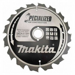 Lames carbures ''Specialized'' construction (FERMACELL), pour scies circulaires - MAKITA – B-13699