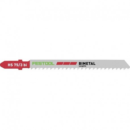 Lames de scie Festool plastiques HS 75/3 BI/5 bimetal