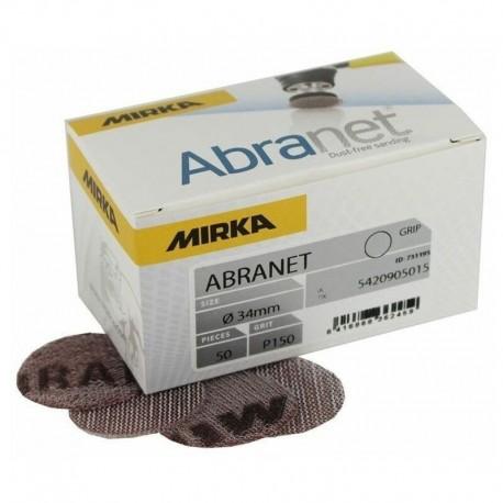 Disques abrasifs auto-agrippants Abranet Ø 34 mm MIRKA