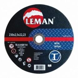 Disque tronconnage metal 230X2.5X22.23 MD LEMAN