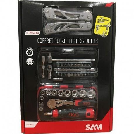 Coffret douilles + pince SAM OUTTILLAGE Pack promo