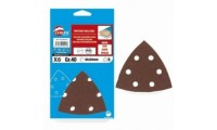 6 patins triangle velcro 6 trous 94x94 mm