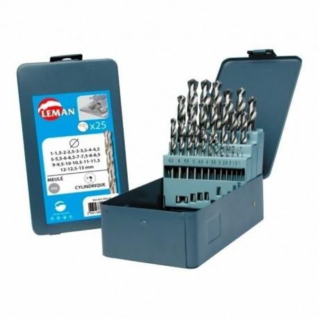 Coffret 25 forets métal hss Acier PRO D.1 à 13mm